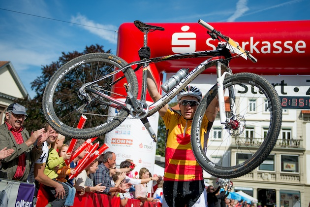 130922_GER_TransZollernalb_Stage3_Albstadt-Hechingen_KaufmannM_winning_overall_3_acrossthecountry_mountainbike_by_Kuestenbrueck