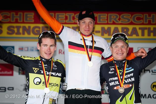 120506_GER_acrossthecountry_mountainbike_Singen_DM_MX_ceremony_Mennen_Kaufmann_Genze_by_Kuestenbrueck