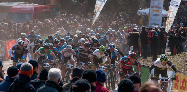 130401_GER_BadSaeckingen_XC_Women_start_topview_acrossthecountry_mountainbike_by_Weschta