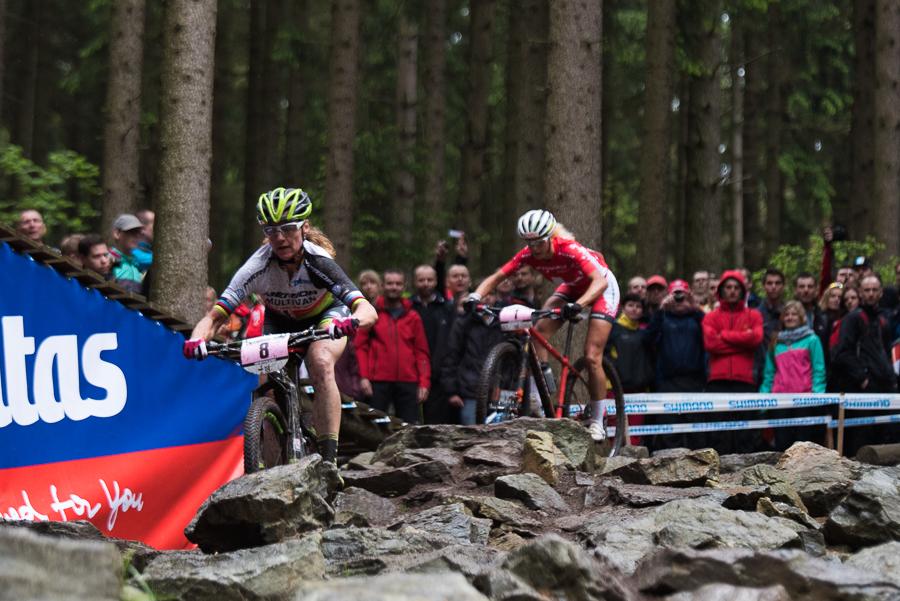 In Nove Mesto nahm das Duell zwischen Gunn-Rita Dahle-Flesjaa und Jolanda Neff seinen Anfang, in Windham könnte am Sonntag eine Vorentscheidung fallen Foto: Lynn Sigel