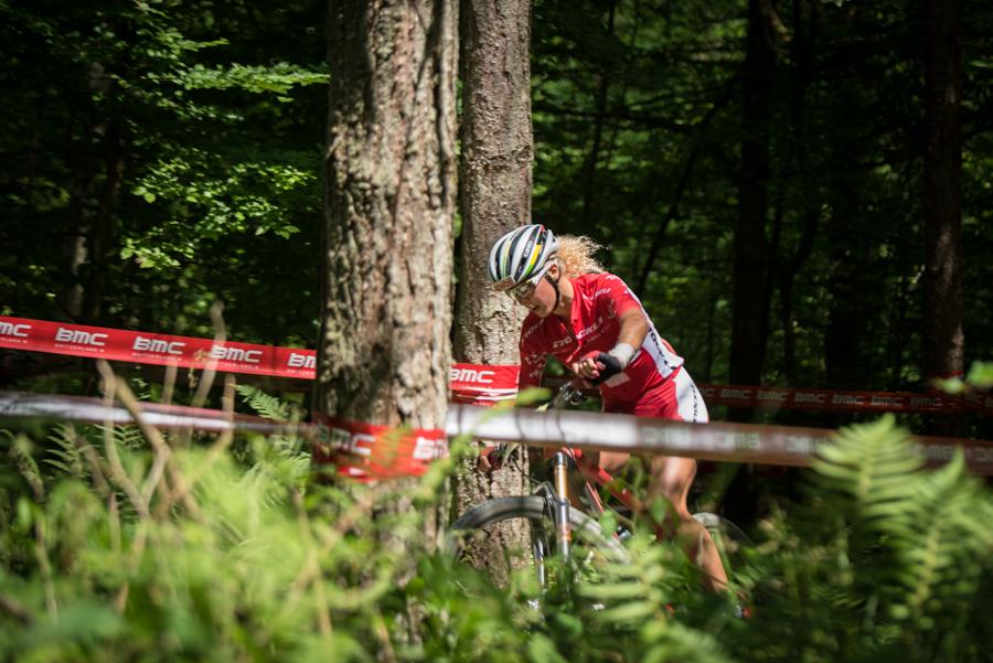 Jolanda Neff auf dem Weg zum neunten Sieg in Folge. Foto: Lynn Sigel