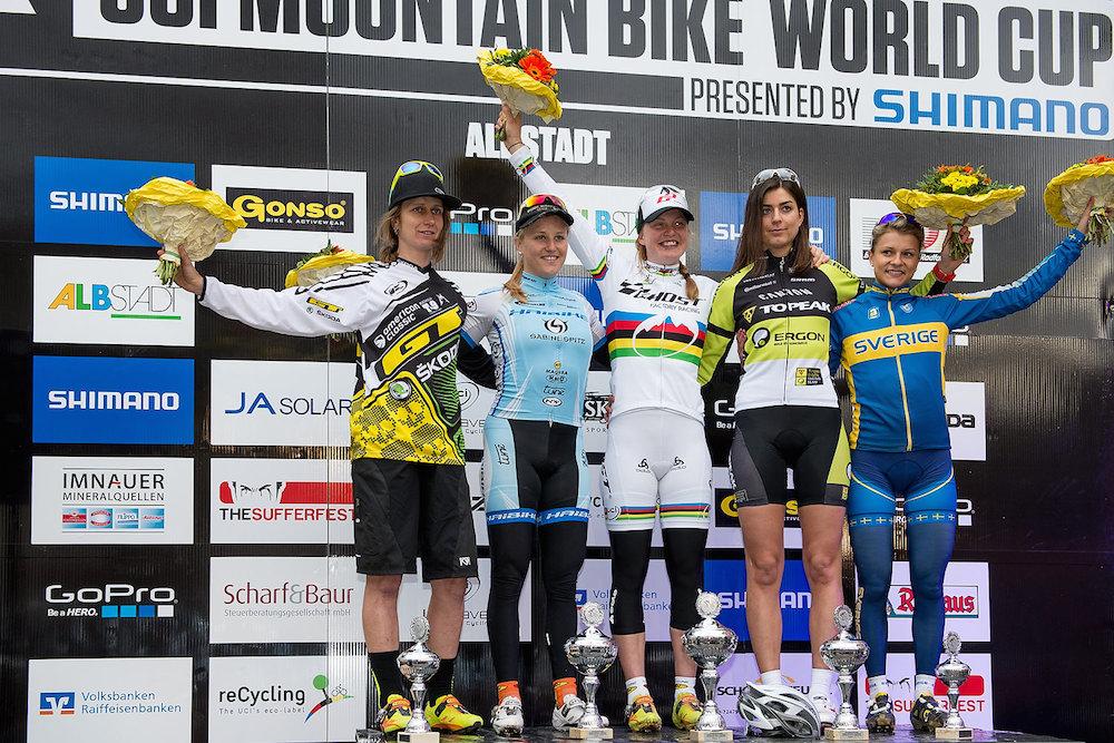 130517_acrossthecountry_mountainbike_GER_Albstadt_XCE_women_ceremony_Ravanel_Stirnemann_Engen_Rieder_Rissveds_by_Kuestenbrueck