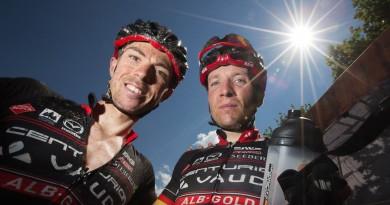 Die dreifachen Sieger der Craft Bike Transalp sind nach ihren Verletzungen auf einem guten Weg zurück: Jochen Käß (links) und Markus Kaufmann ©Henning Angerer/Craft Bike Transalp