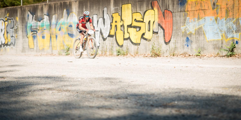 Lukas Flückiger allein auf weiter Flur. Foto: Lynn Sigel