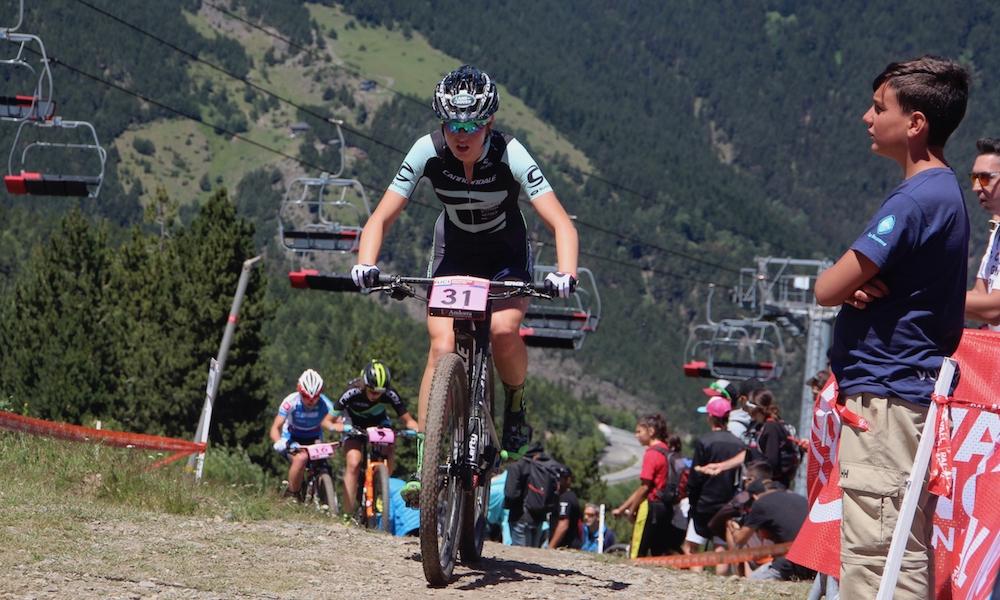 Da sah es noch richtig gut aus für Adelheid Morath: Sie liegt Anfang zweiter Runde an vierter Position vor Linda Indergand ©Erhard Goller